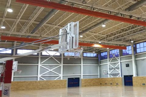Efficient sportlight pavilion