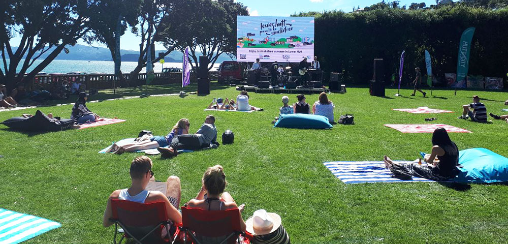 A smokefree event at Williams Park, Days Bay.