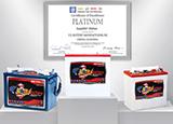 U.S. Battery GM Platinum Award