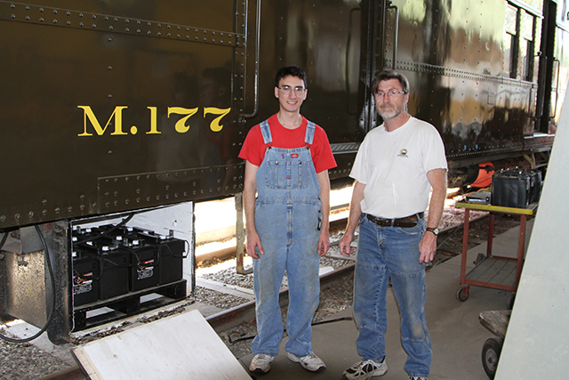 Volunteers restoring M.177 train with U.S. Battery products