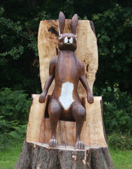 Hare Sculpture by Joey Burns