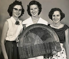 Rainbow Girls: (l-r) Joan Moore, Pat Moore, Martha Dreadin