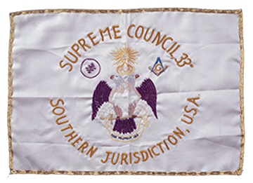 Supreme Council Flag carried to the moon by Buzz Aldrin