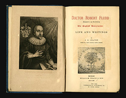 Title page and frontispiece of Doctor Robert Flood: The English Rosicrucian, Life and Writings