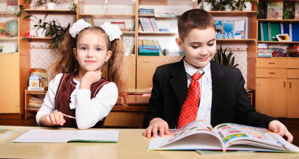 boy and girl students