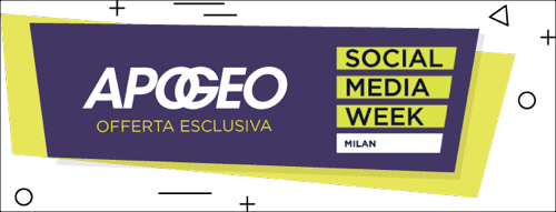 Offerta esclusiva Apogeo per Social Media Week