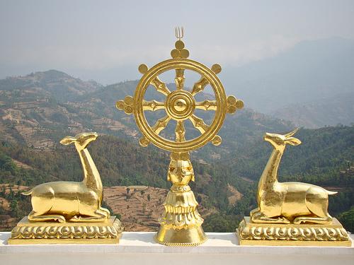 dharma wheel namo buddha
