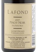 Lafond Pommard Clone Pinot Noir 2007