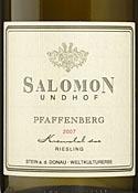 Salomon Undhof Pfaffenberg Riesling 2007