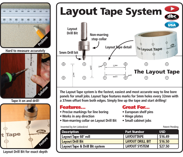 FastCap's Layout Tape Catalog Page