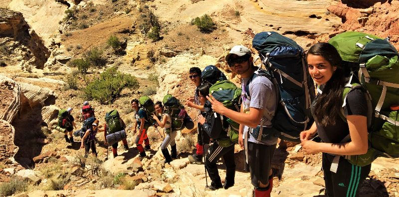 LCHS Wilderness Experience students pack through San Rafael Swell, Utah as capstone to their semester-long outdoor leadership class.