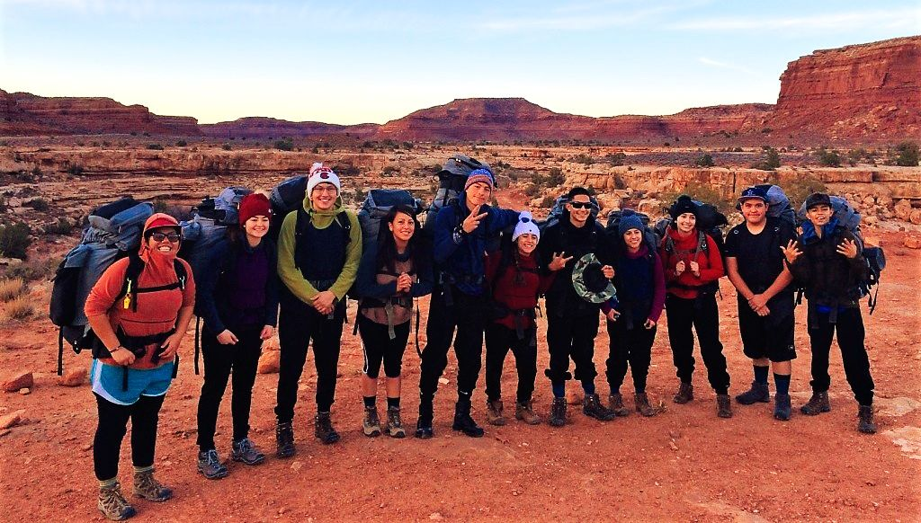 Wilderness Experience students on their Capstone trip in Utah, November 2018