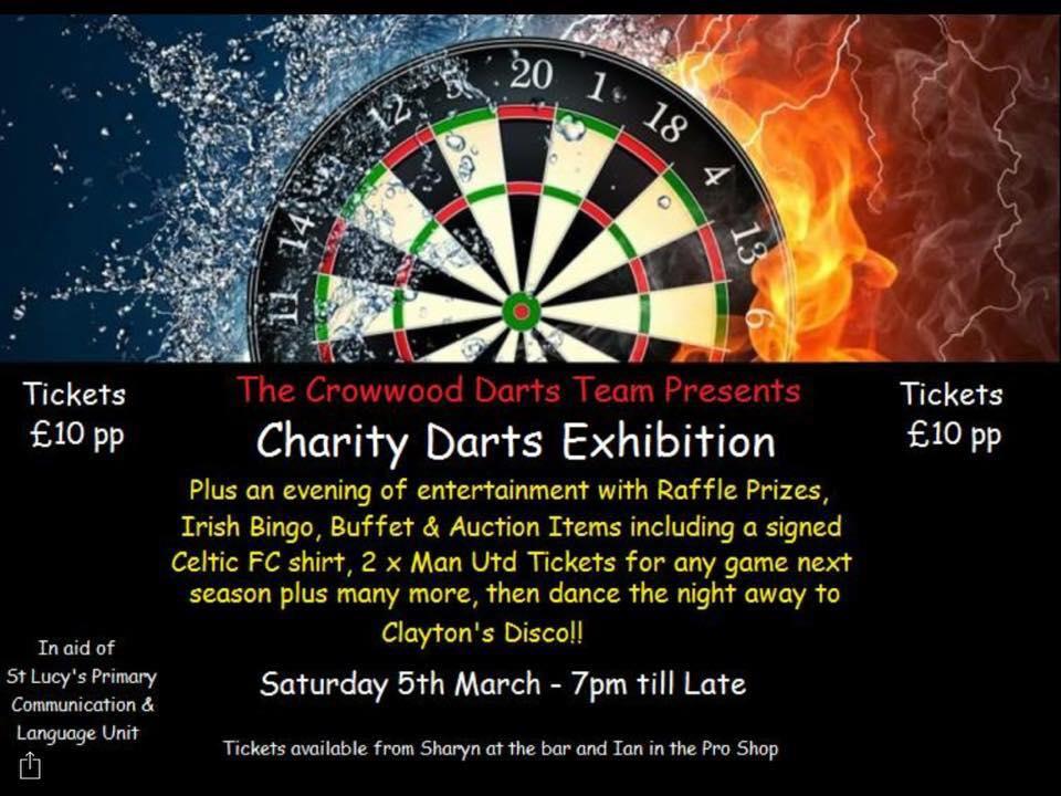 Darts team charity event