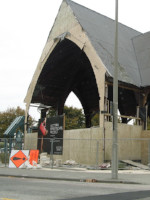 Earthquake damaged building in Christchurch.