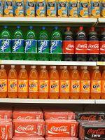 Softdrinks on shelf