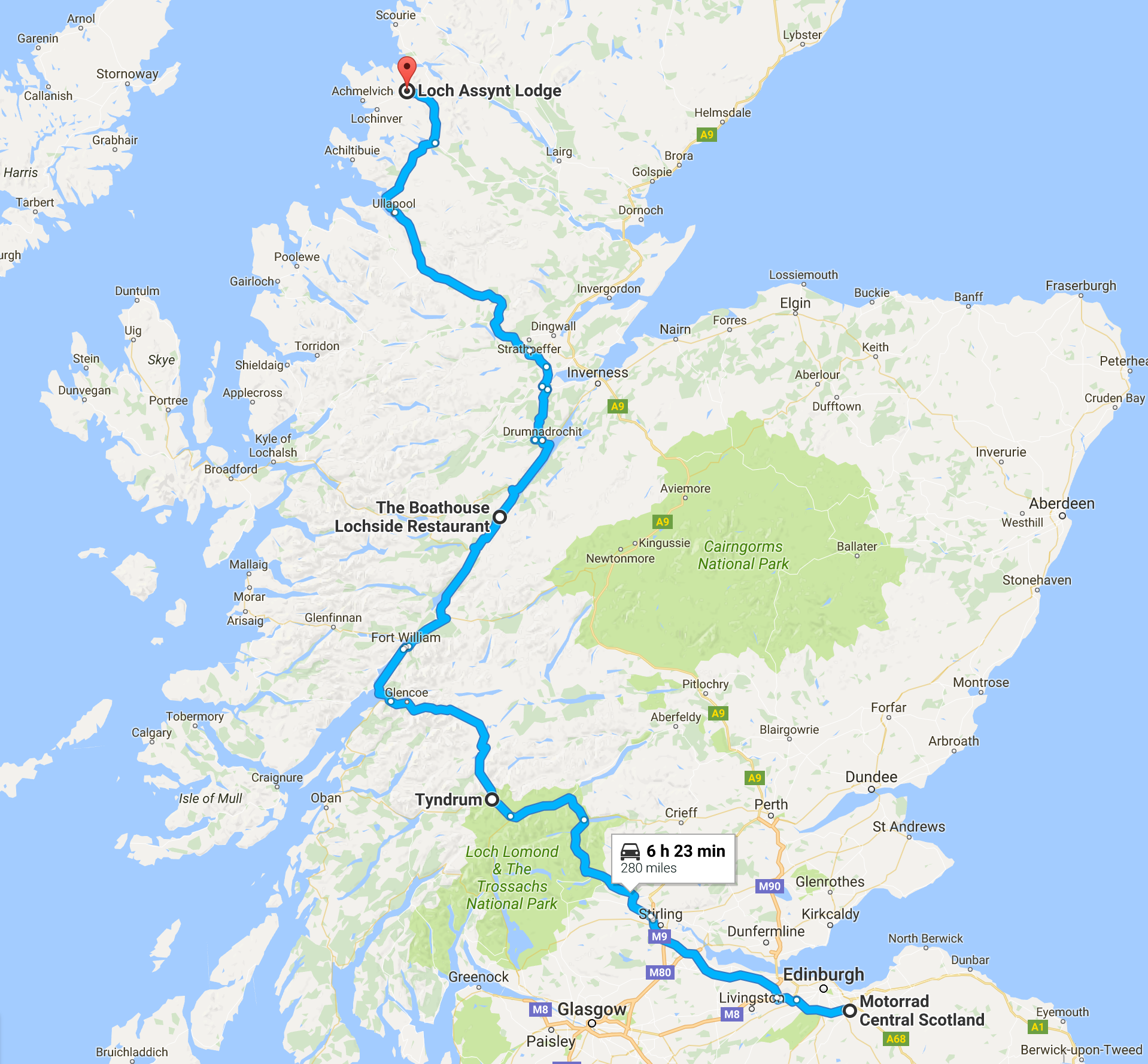 Loch Assynt Route - Day 1