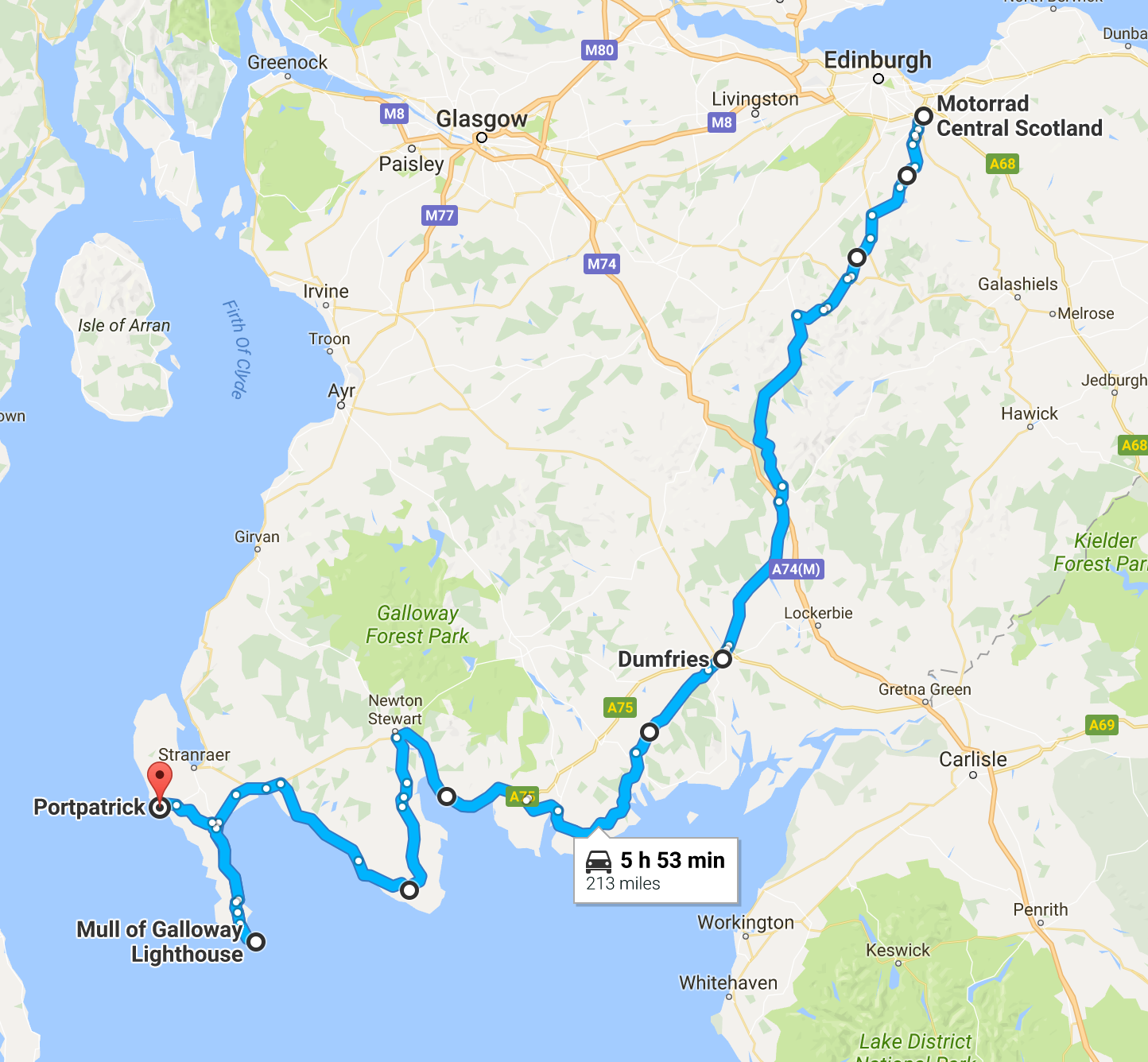 Portpatrick Route - Day 1