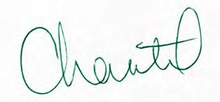 Chantel's signature