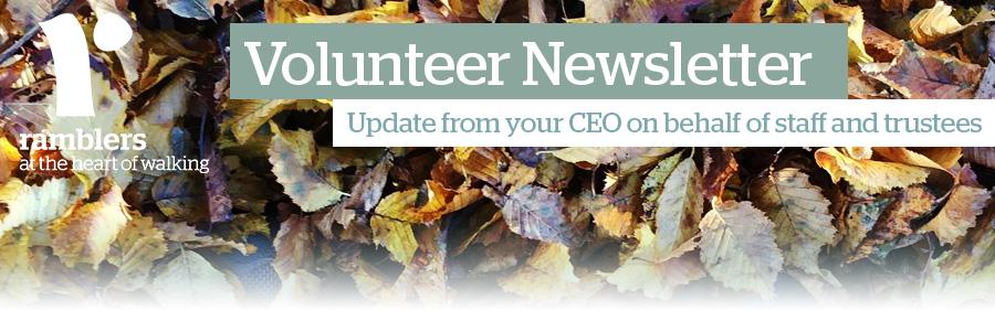 Ramblers Volunteer Newsletter