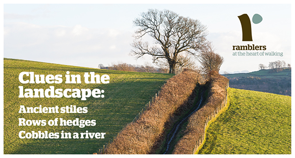 Clues in the landsacape: Ancient stiles, Rows of hedges, Cobbles in a river