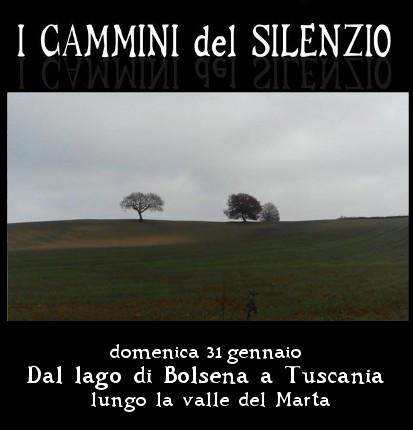 31 gennaio: Dal lago di Bolsena a Tuscania lungo la valle del Marta