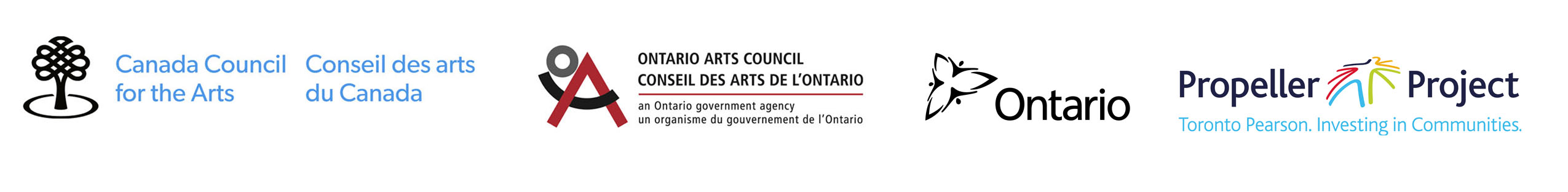 Cultural Pluralism in the Arts Movement Ontario (CPAMO) is supported by the Canada Council for the Arts, Ontario Arts Council, Toronto Pearson International Airport's Propeller Project and the Ontario Ministry of Citizenship and Immigration.