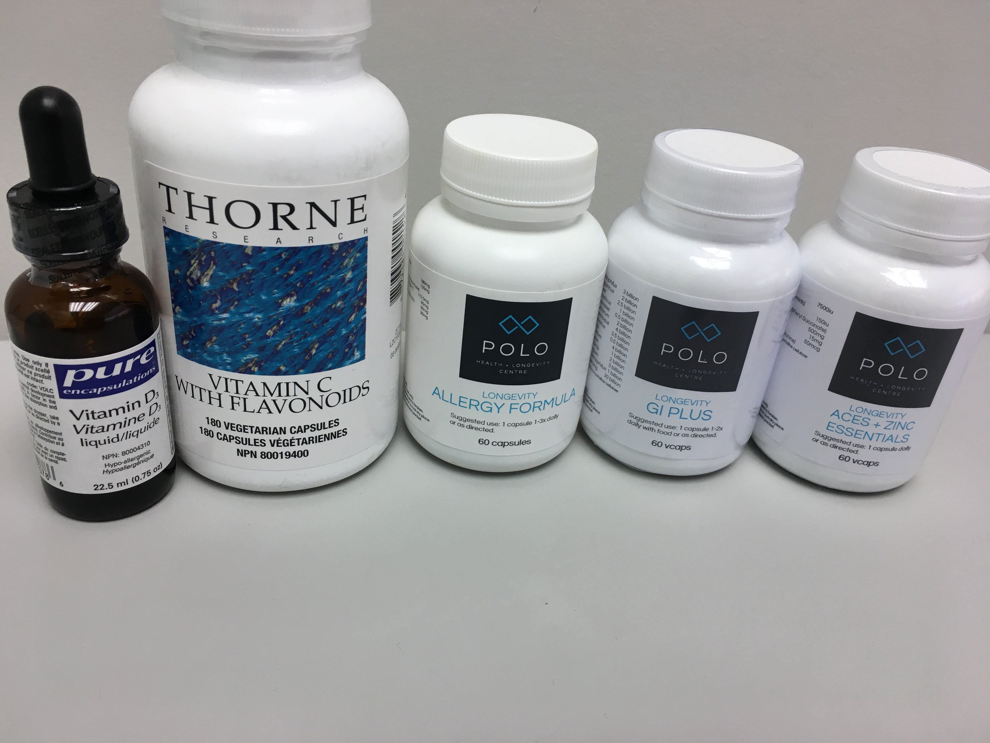 Allergy supplements available at Polo Health