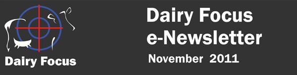 Dairy Focus e-Newsletter - November 2011
