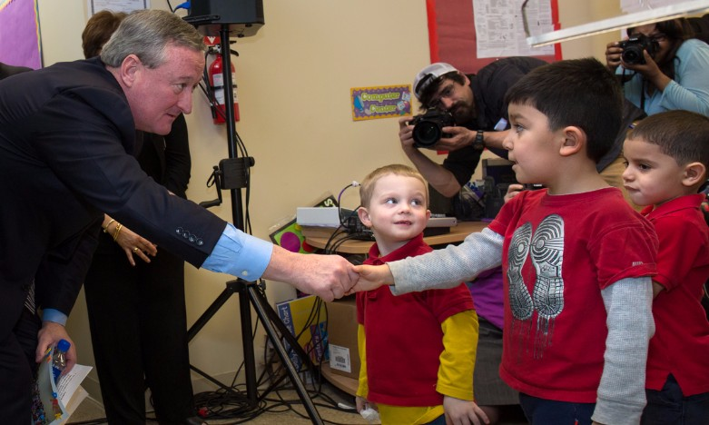 Mayor Jim Kenney at announcement
