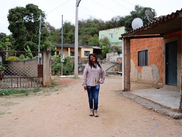 Luzia in her village