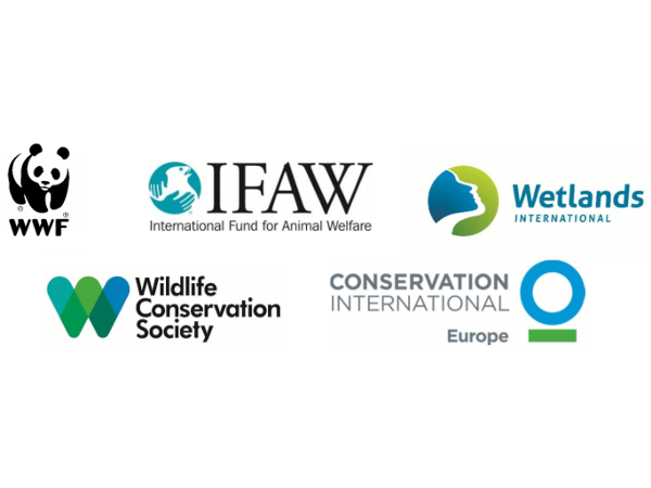 Logos of environment NGOs calling on the EU