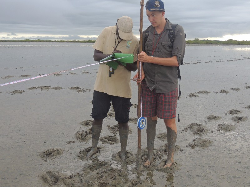 Menno de Boer conducting field work in Guinea Bissau