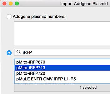 Import from Addgene
