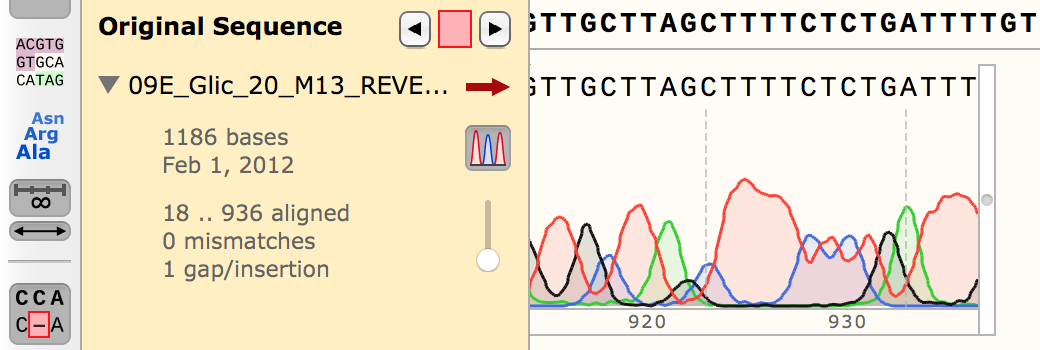 Stored Edits for Alignment to a Reference Sequence
