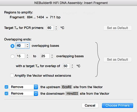 NEBuilder HiFI DNA Assembly