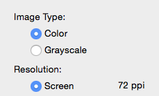 Grayscale Export