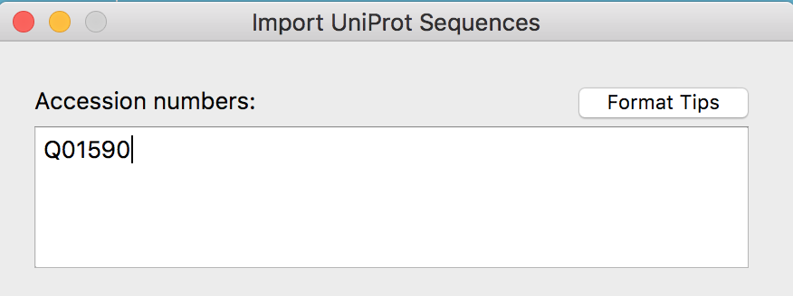 Import from UniProt