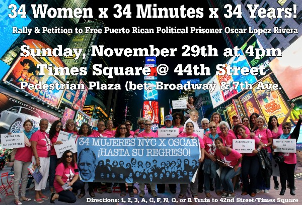 Join 34 Mujeres NYC x Oscar in Times Square (Again)!