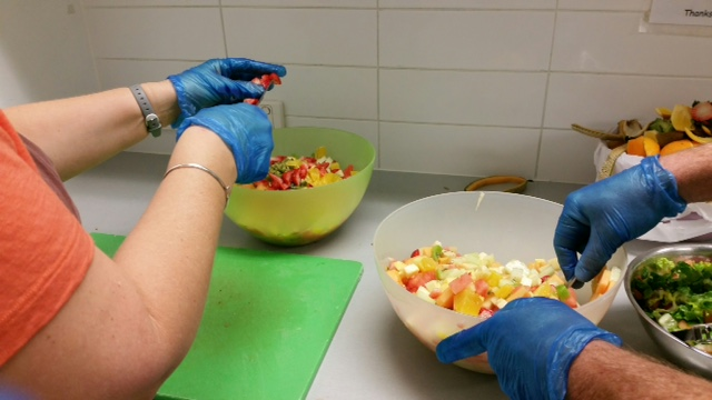 Fresh fruit salad for breakfast at the Early Morning Centre