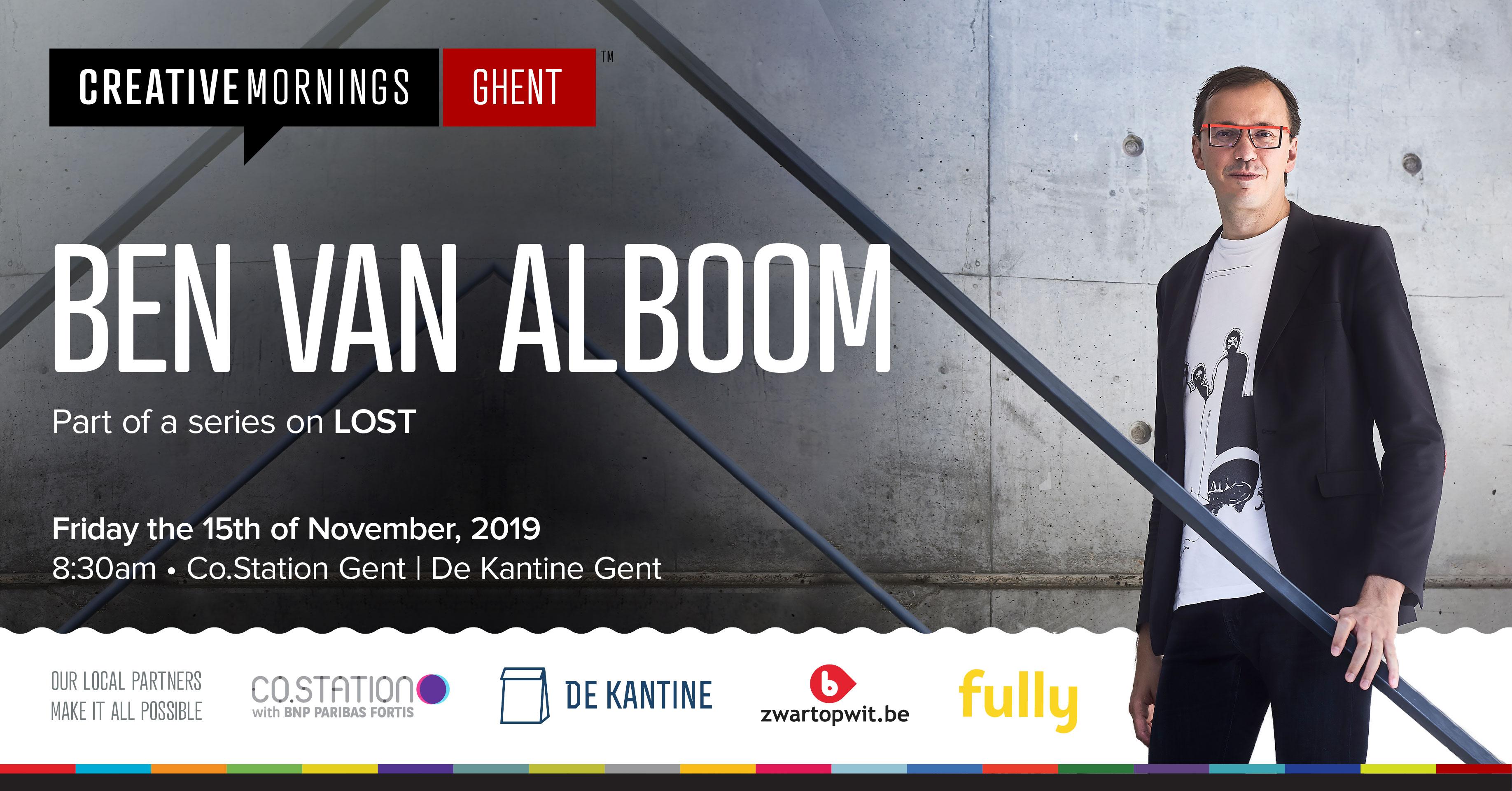 Ben Van Alboom at CreativeMornings/Ghent