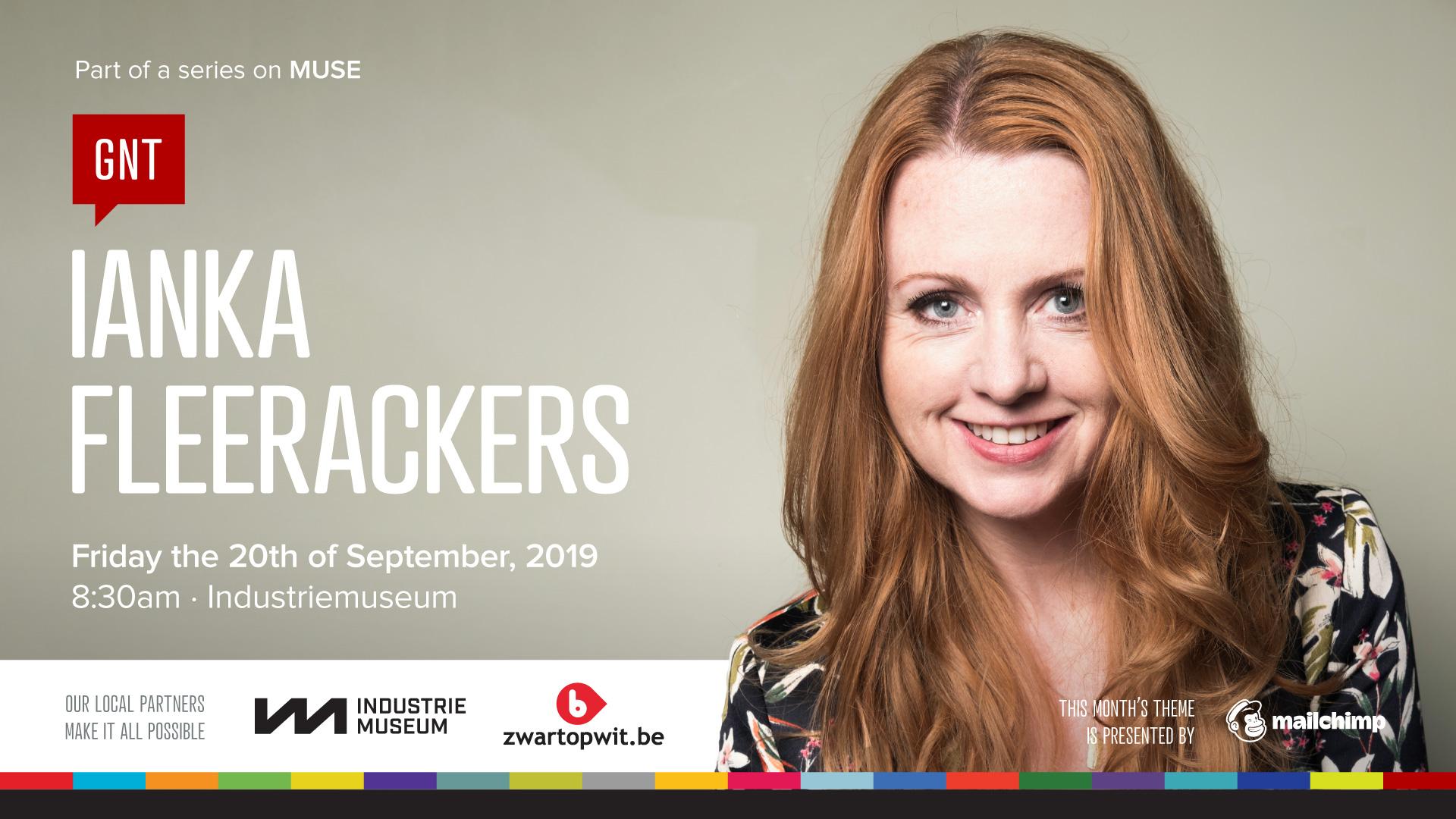 Ianka Fleerackers at CreativeMornings/Ghent