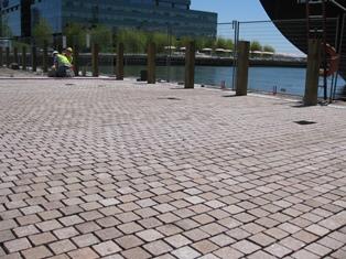 New granite installed at Jarvis Slip