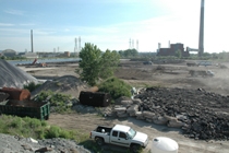 Site prep for Waterfront Toronto's Pilot Soil Recycling Facility