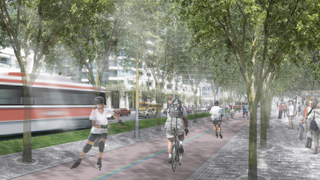 Artist rendering of Queen's Quay blvd.