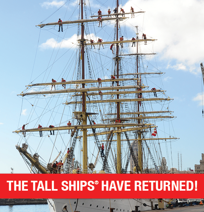 The Tall Ships return for Redpath Waterfront Festival Toronto.
