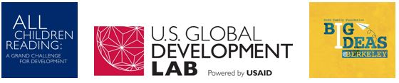 Logos of All Children Reading, U.S. Global Development Lab & Big Ideas @ Berkely