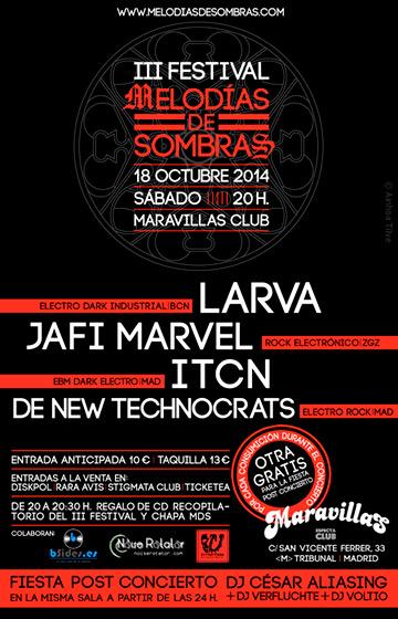 III Festival Melodías de Sombras 18-10-14
