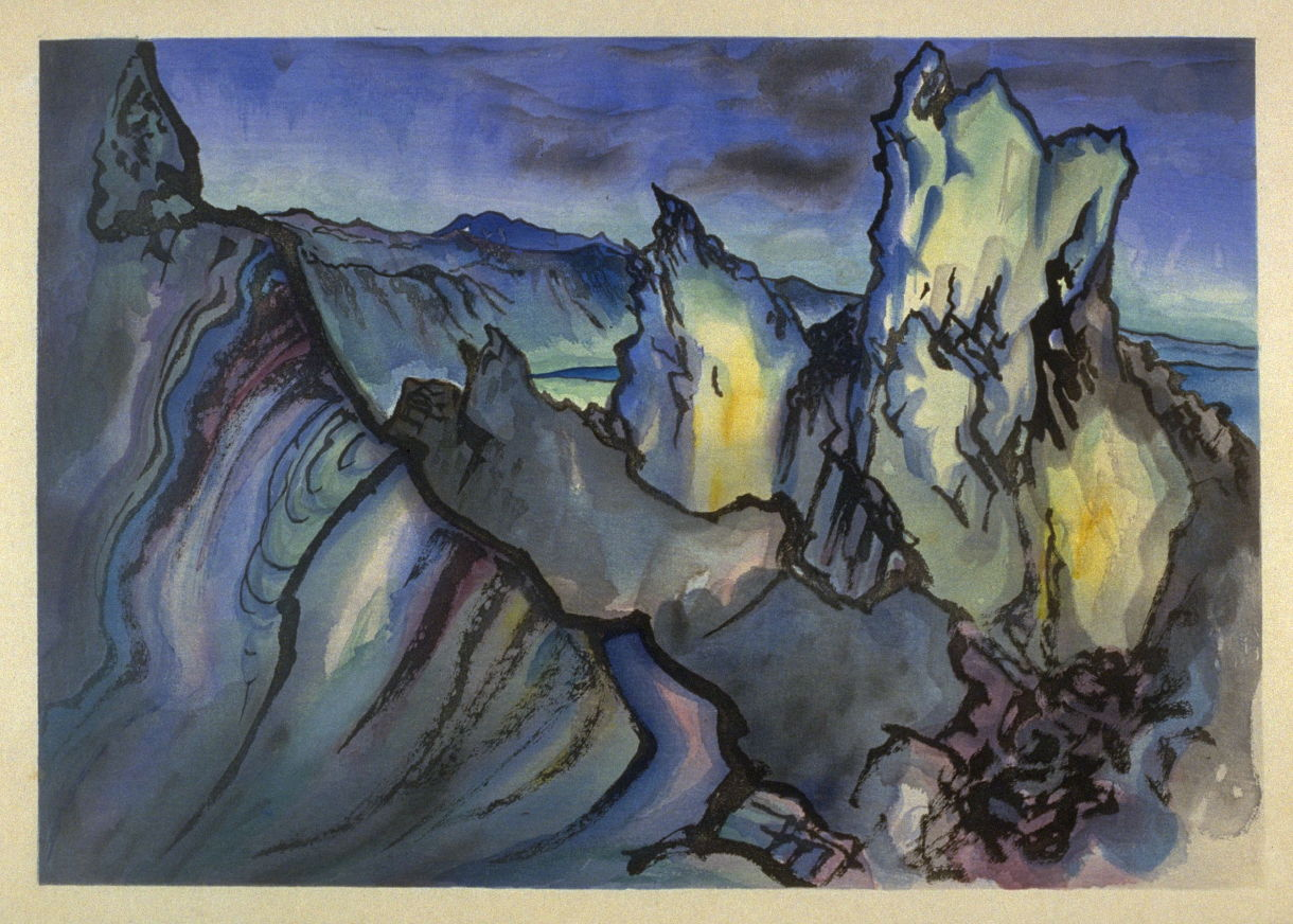 "Chiura Obata, ""Mono Crater, Sierra Nevada, California"" (1930)"