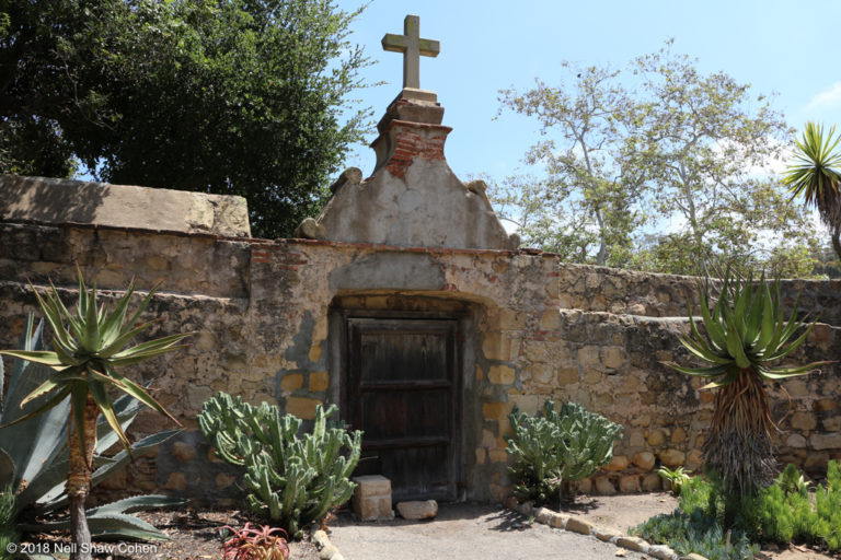Cemetery wall, Mission Santa Barbara.
