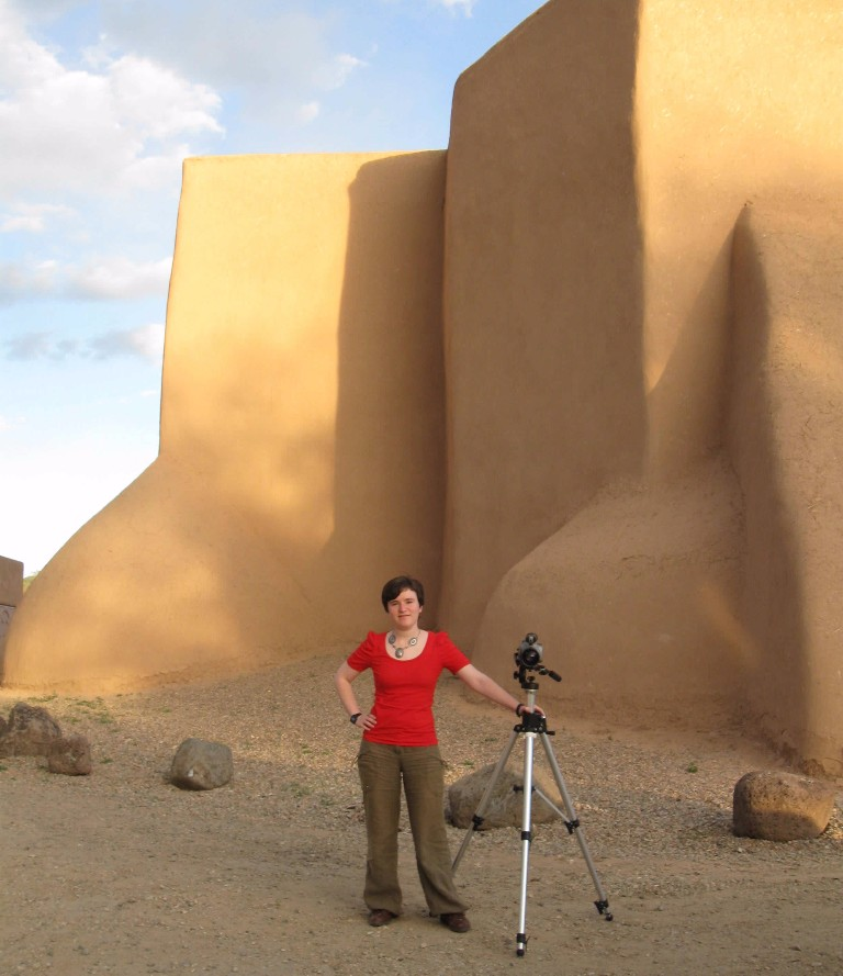 Nell filming at Ranchos de Taos in 2010